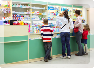 Customers are buying medicines